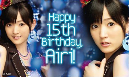 Today is Suzuki Airi Birthday...^^ Wishca10