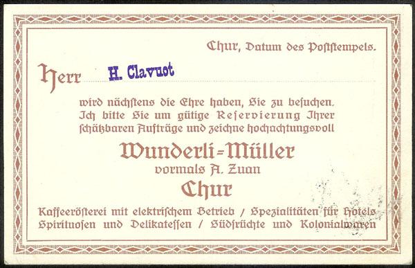 "Der ""Rasierklingenstempel"" Chur310"