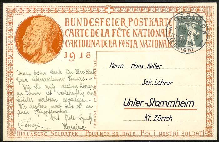 schweiz - Bundesfeierkarten Propat11