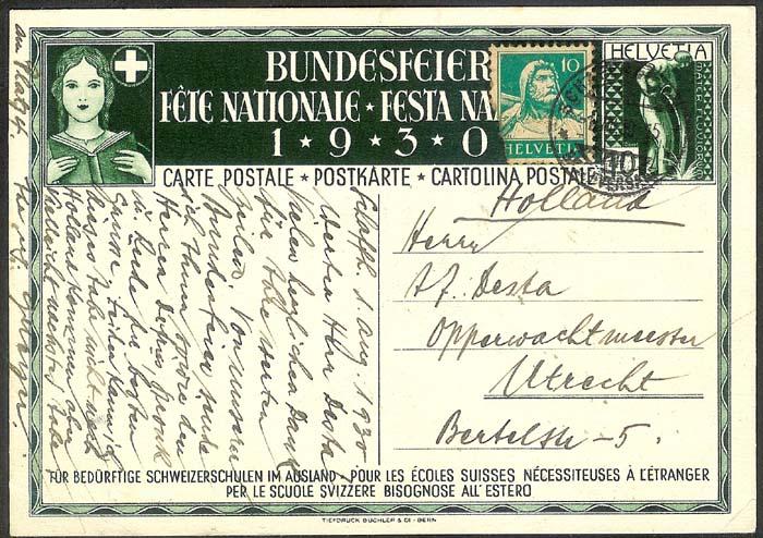 schweiz - Bundesfeierkarten Propat13