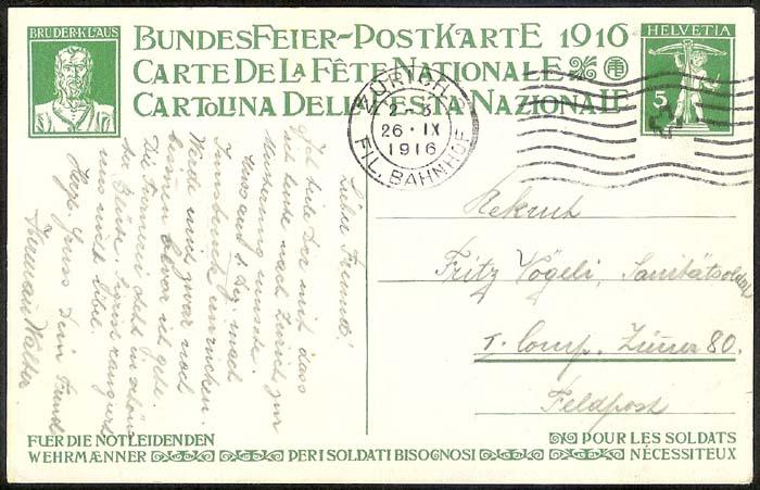 schweiz - Bundesfeierkarten Propat27