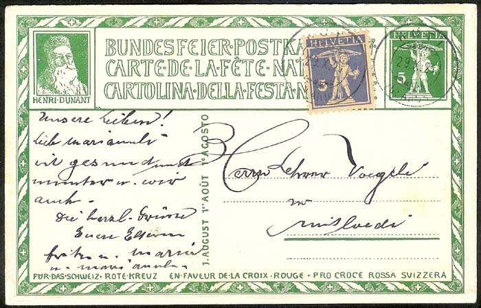 schweiz - Bundesfeierkarten Propat33