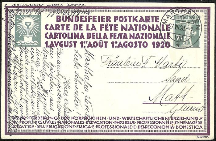 schweiz - Bundesfeierkarten Propat40