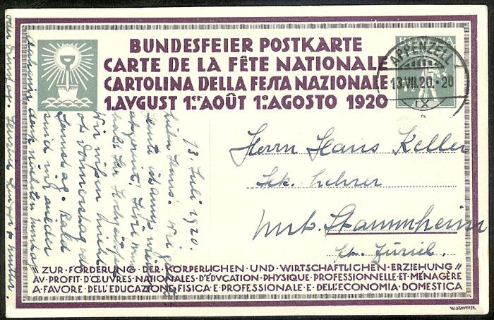 schweiz - Bundesfeierkarten Propat42
