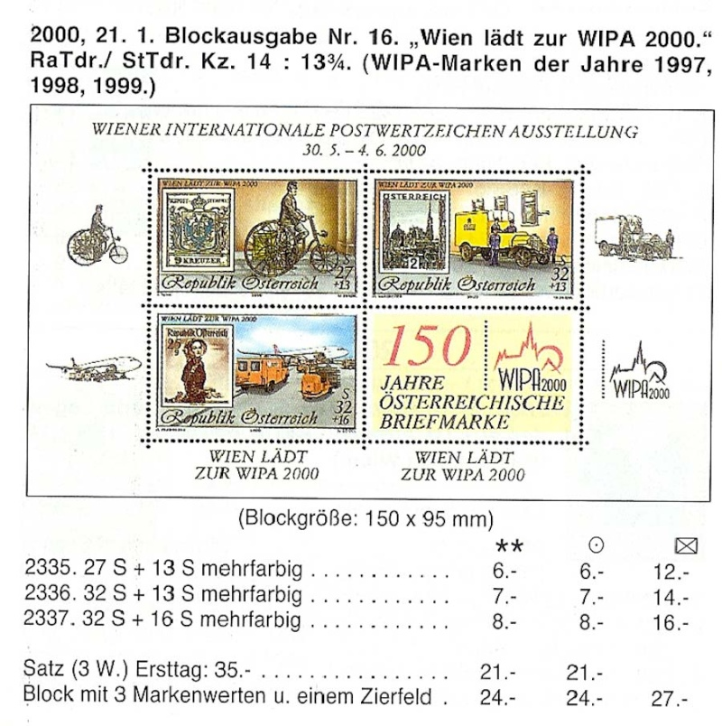 150 Jahre öst. Briefmarke 4er Block mit Buch der Staatsdruckerei Wipa-b10