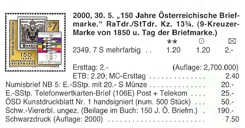 150 Jahre öst. Briefmarke 4er Block mit Buch der Staatsdruckerei Wipa-b11