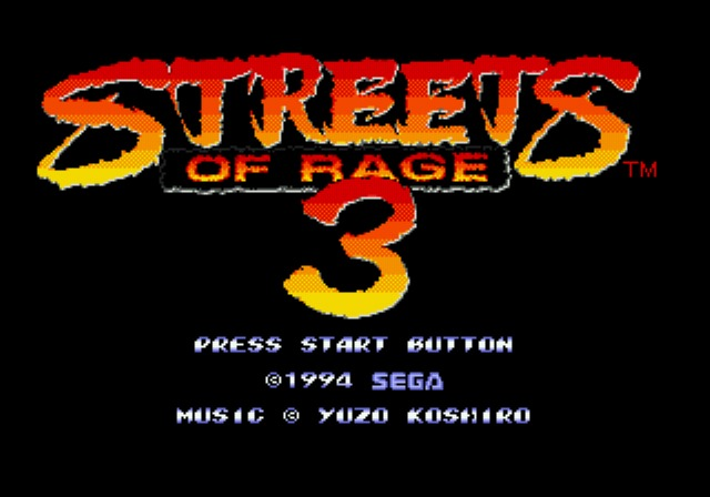 [MegaDrive] Streets of Rage 3 138