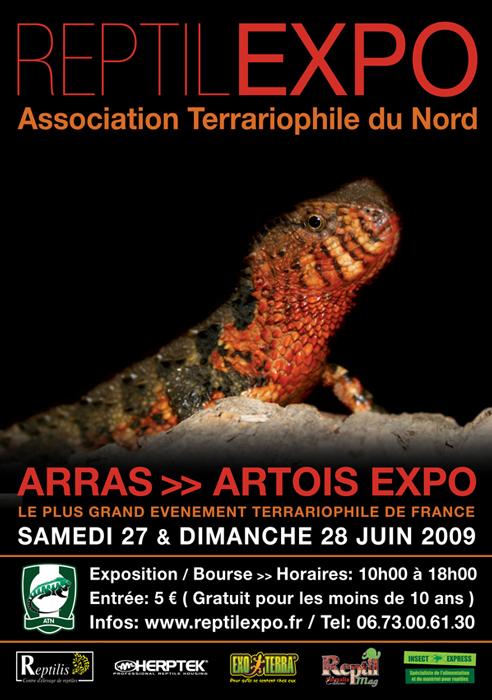 2009 - 06 - Le 27 et 28 - ARRAS - REPTILEXPO Affich11