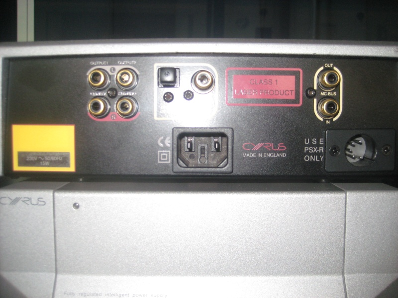 Cyrus CD8x CD player & PSX-R power supply(used)(sold) Img_1329
