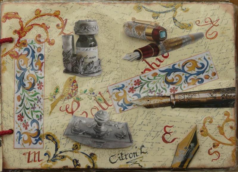 De bien belles pages... d'un circle journal Objets d'écriture et Enluminures P1020712