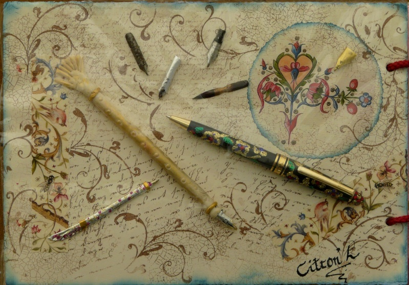 De bien belles pages... d'un circle journal Objets d'écriture et Enluminures P1020713