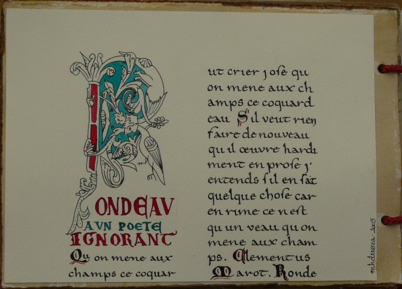 De bien belles pages... d'un circle journal Objets d'écriture et Enluminures P1020717