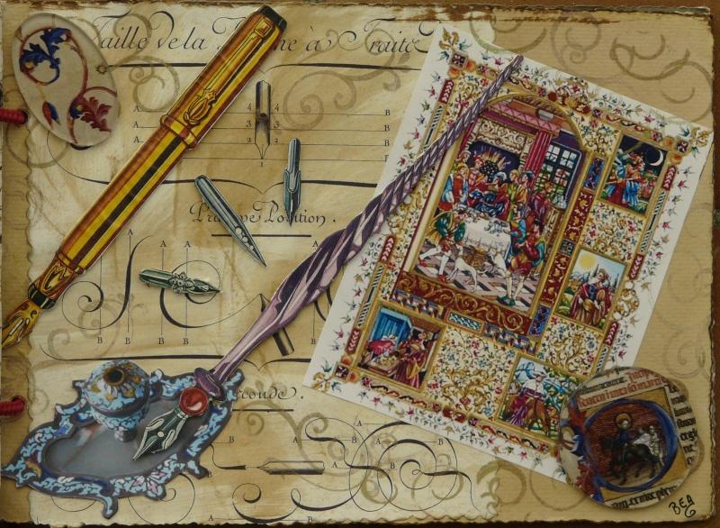 De bien belles pages... d'un circle journal Objets d'écriture et Enluminures P1020722