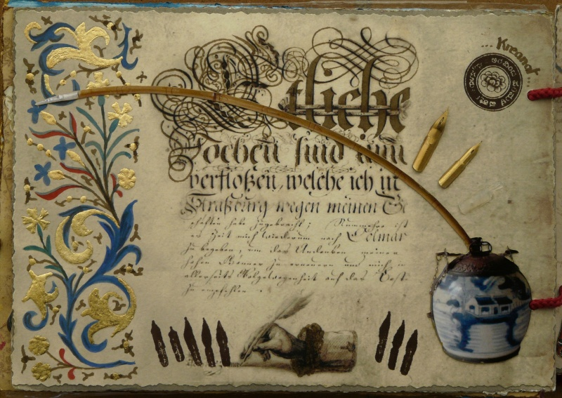 De bien belles pages... d'un circle journal Objets d'écriture et Enluminures P1020723