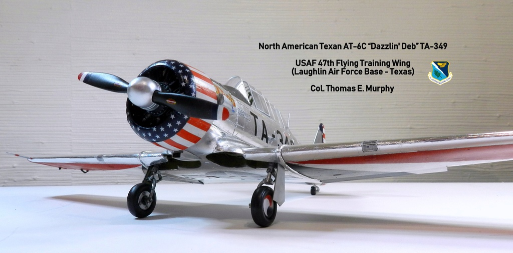 "Texan T-6 C TA-349 ""Dazzlin' Deb"" - Col. Thomas E. Murphy - 47th Flying Trainig Wing USAF F00110"