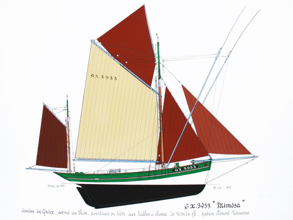 """Thonier (dundée) de Groix - Le """"Mimosa"""" - 1/50 (kit Soclaine) - Page 2 Mimosa14"""
