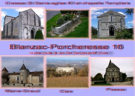 visite : 16 - Cressac St genis (Blanzac), chapelle templiers Carte_19