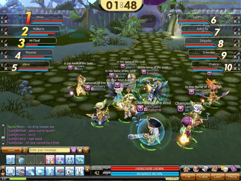 First Guild player vs player game~ Pvp110