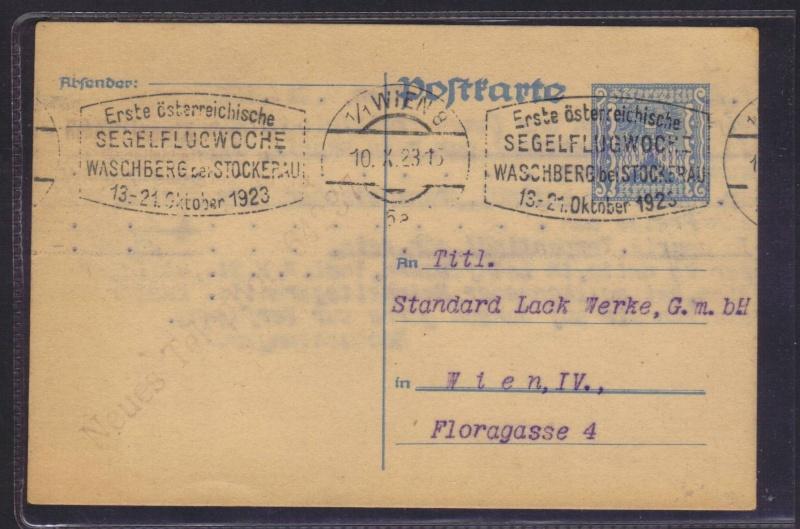 rwh's Luftpostsammlung Österreich erste Republik 1923_s10