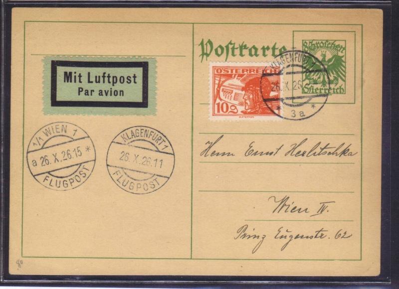 rwh's Luftpostsammlung Österreich erste Republik 1926_k10