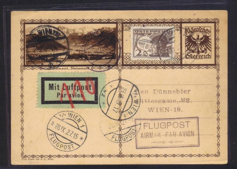 rwh's Luftpostsammlung Österreich erste Republik 1927_i10