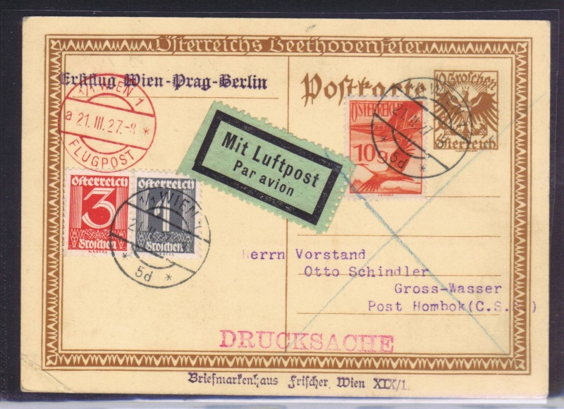 rwh's Luftpostsammlung Österreich erste Republik 1927_w12
