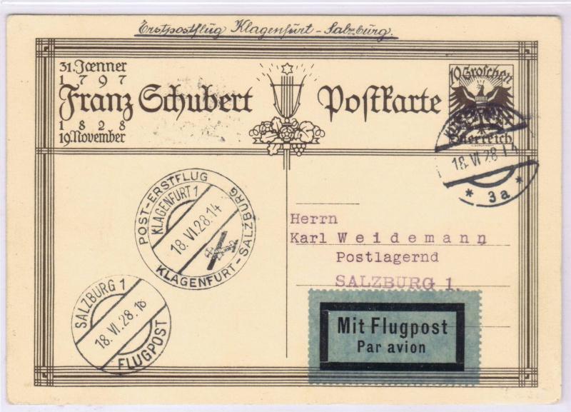 rwh's Luftpostsammlung Österreich erste Republik 1928_k10