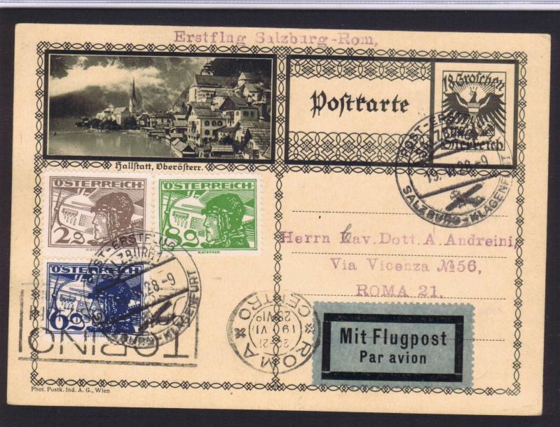 rwh's Luftpostsammlung Österreich erste Republik 1928_s10