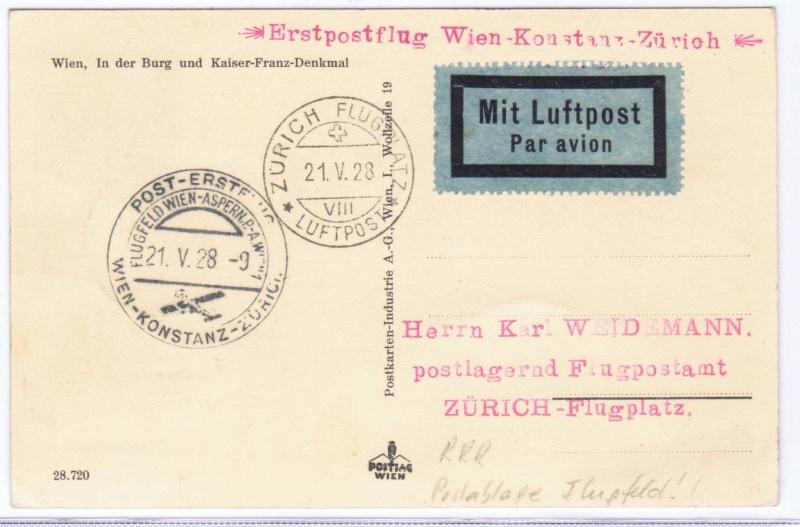 rwh's Luftpostsammlung Österreich erste Republik 1928_w10