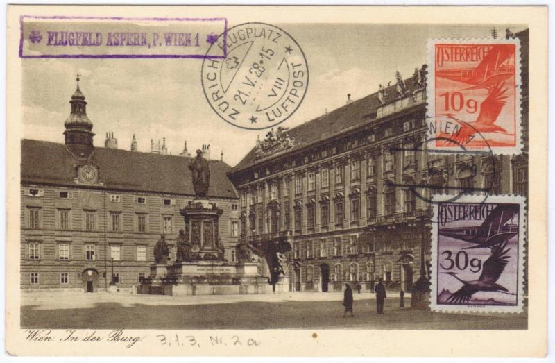 rwh's Luftpostsammlung Österreich erste Republik 1928_w11