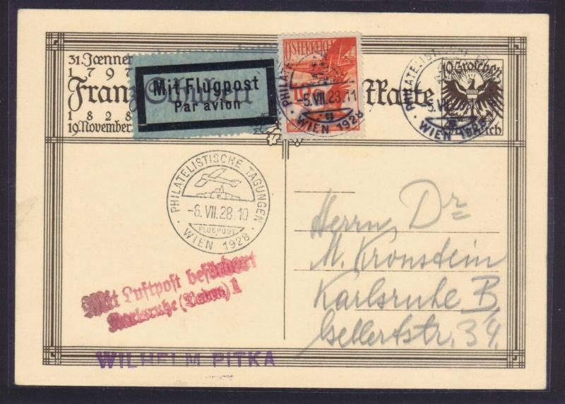 rwh's Luftpostsammlung Österreich erste Republik 1928_w12