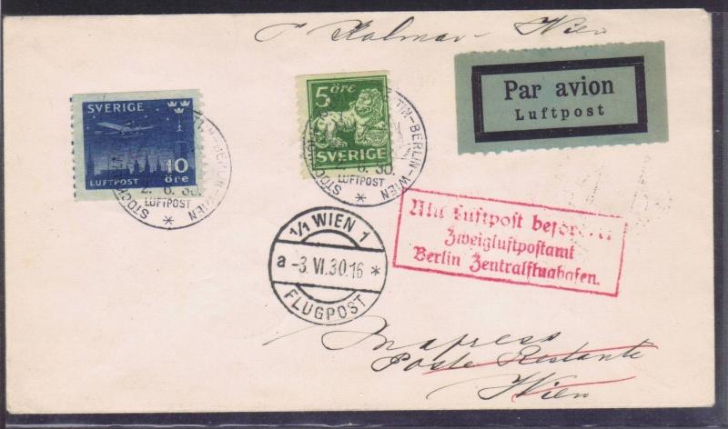 rwh's Luftpostsammlung Österreich erste Republik 1930_k10