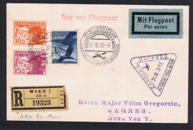 rwh's Luftpostsammlung Österreich erste Republik 1930_w10