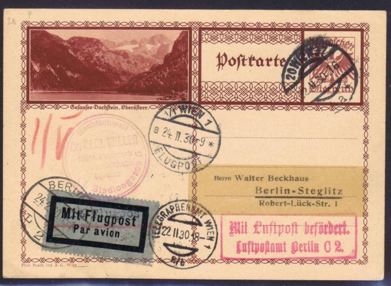 rwh's Luftpostsammlung Österreich erste Republik 1930_w11