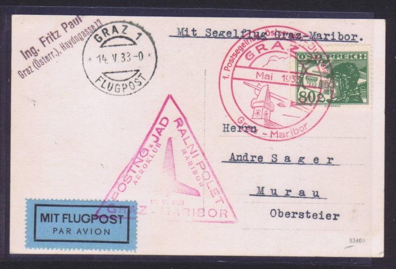 rwh's Luftpostsammlung Österreich erste Republik 1933_g12
