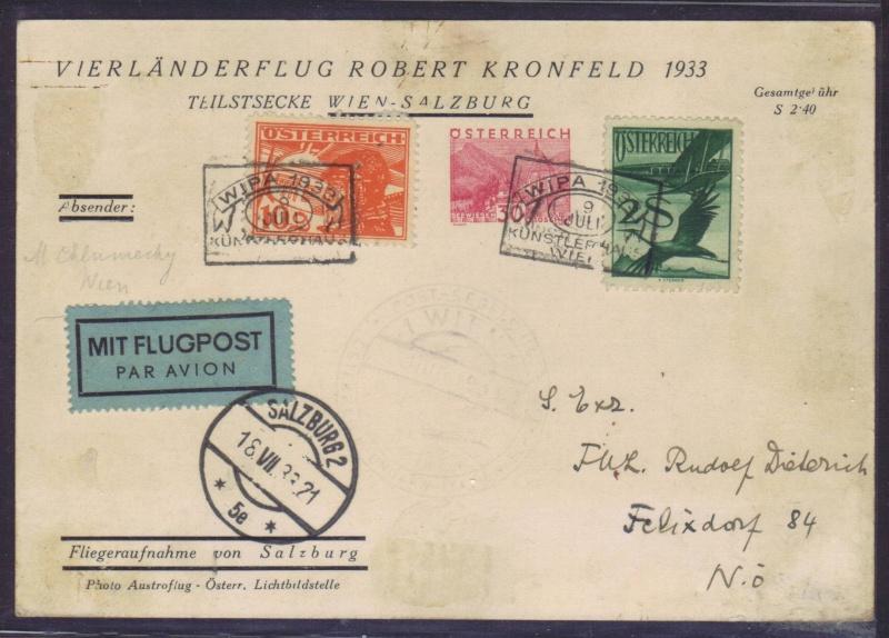 rwh's Luftpostsammlung Österreich erste Republik 1933_k10