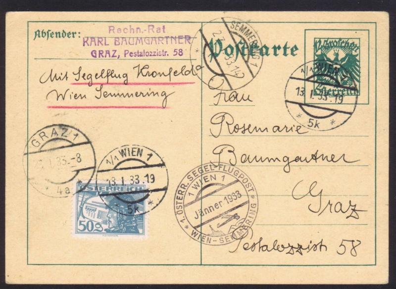 rwh's Luftpostsammlung Österreich erste Republik 1933_k11