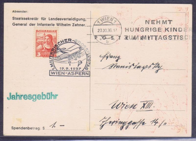 rwh's Luftpostsammlung Österreich erste Republik 1937_w11