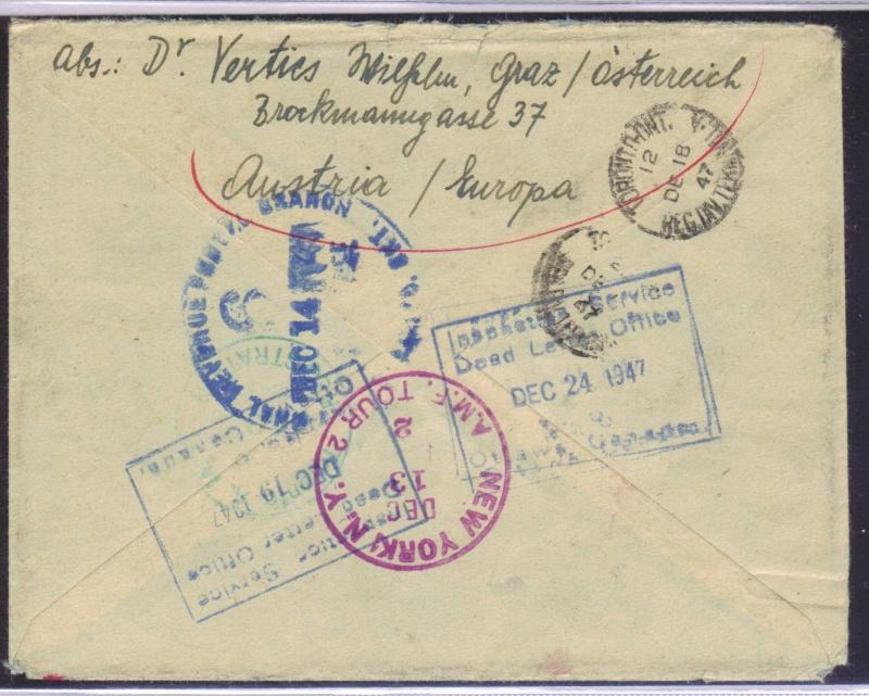 rwh's Luftpostsammlung Österreich zweite Republik 1947_f11