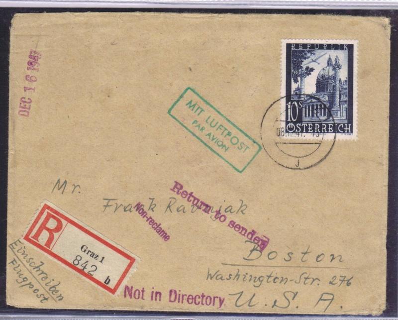 rwh's Luftpostsammlung Österreich zweite Republik 1947_f14