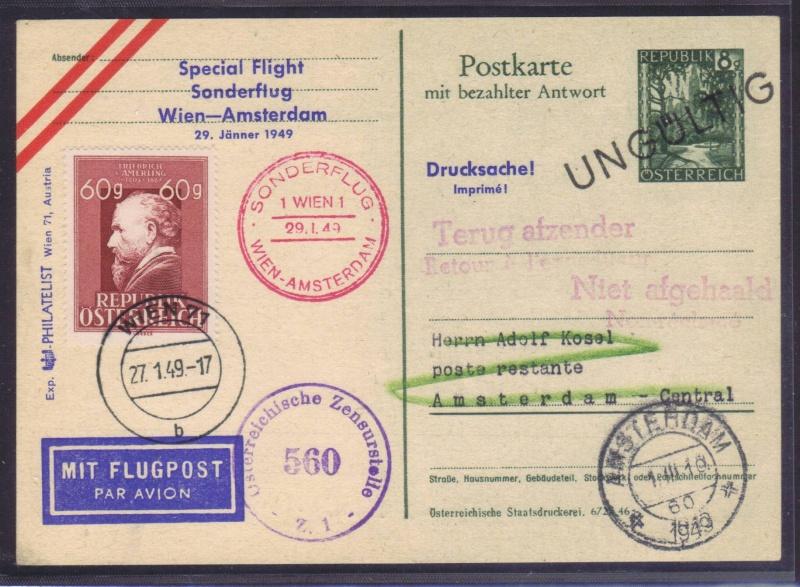 rwh's Luftpostsammlung Österreich zweite Republik 1949_w10