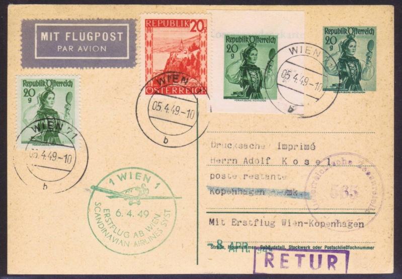 rwh's Luftpostsammlung Österreich zweite Republik 1949_w11