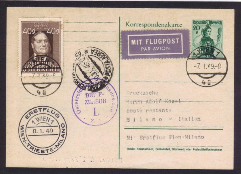rwh's Luftpostsammlung Österreich zweite Republik 1949_w14