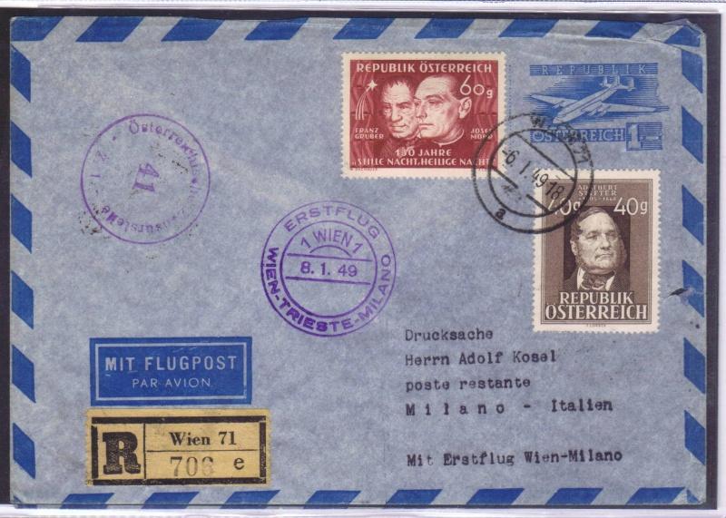rwh's Luftpostsammlung Österreich zweite Republik 1949_w15