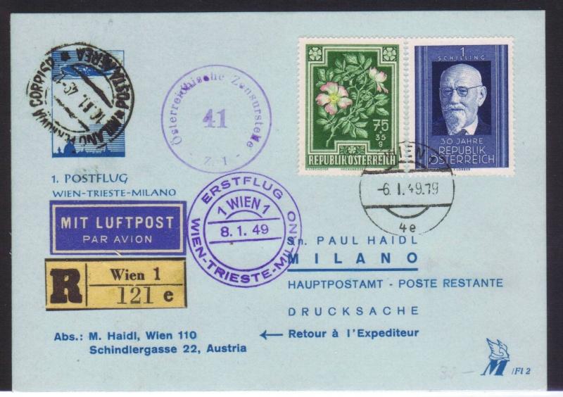 rwh's Luftpostsammlung Österreich zweite Republik 1949_w16