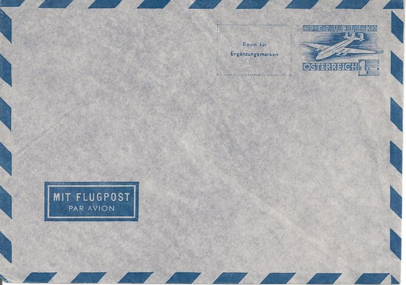 Flugpostumschläge zweite Republik Aerogr11
