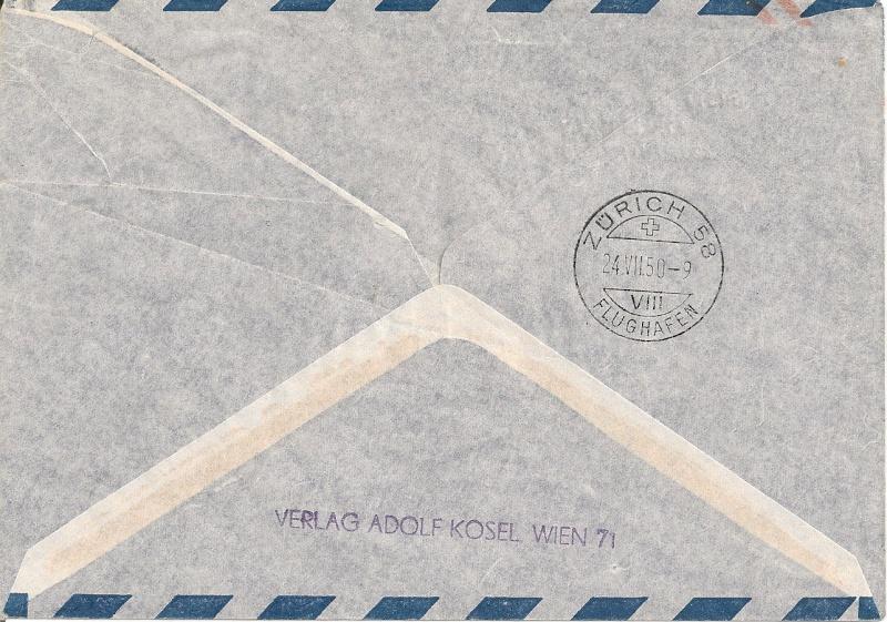 Zudrucke auf Aerogrammen von Österreich Aerogr17
