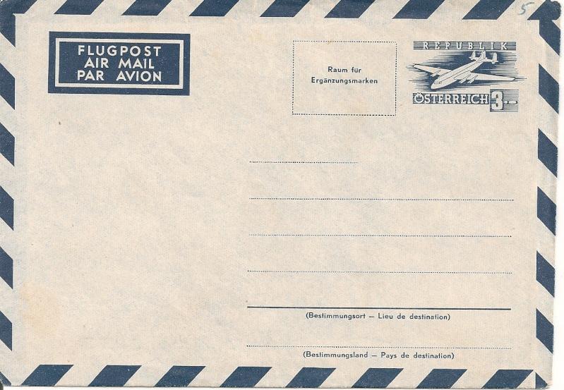 Flugpostumschläge zweite Republik Aerogr26