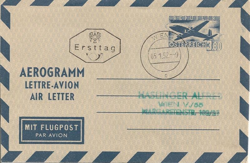 Flugpostfaltbriefe (Aerogramme) Aerogr31