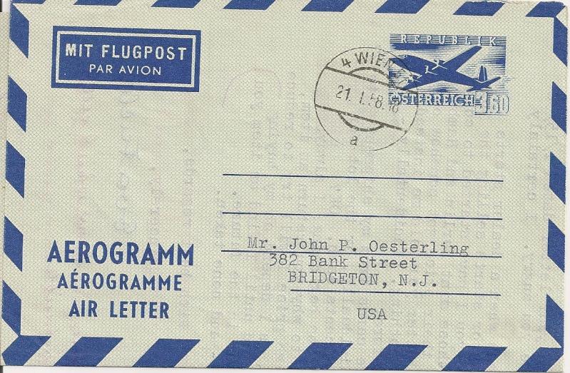 Flugpostfaltbriefe (Aerogramme) Aerogr34